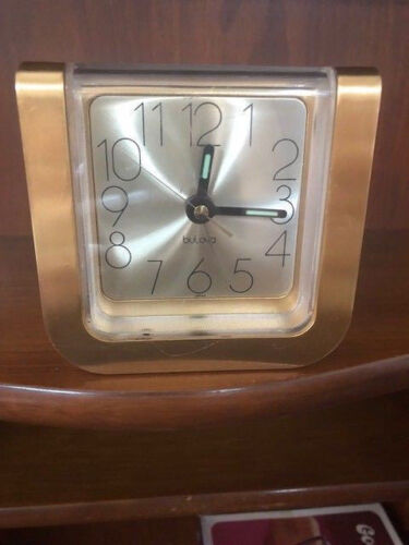 Vintage 1970s Japanese Not Working Clock by Bulova 9167