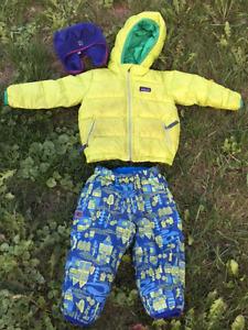 Patagonia Down Jacket / MEC Cocoon Reversible Pants / MEC Toque