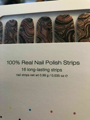 NEW 100% Nail-Polish Strips Best of both swirls (marble