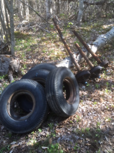 Older Mobile Home Tires and Rims