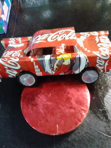 Folk Art - Metal car made from a Coke Can London Ontario image 1