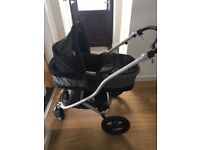 Travel System - pram, carrycot, car seat, isofix bases, cosytoes...