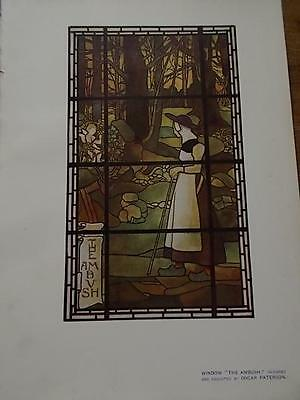 Arts & Crafts 1907 Architectural Architecture print Window by OSCAR PATERSON