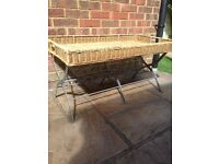 Rustic (shabby chic?!), folding Wicker table