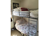 Metal Frame Bunk Bed (Mattresses not included)