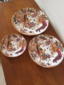 3 x Plates *Royal Crown Derby *Olde Avesbury Small Medium Large 22carat Gold ❤