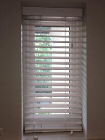 2 x Wooden Venetian blinds in white satin