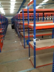 JOB LOT 10 bays RAPID 1 industrial long span shelving 2.4 high. ( storage , pallet racking )
