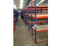JOB LOT 10 bays RAPID 1 industrial long span shelving 2.4 high. ( storage , pallet racking )