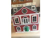 Used Sylvanian Families Hotel with various Furniture, Figures & accessories