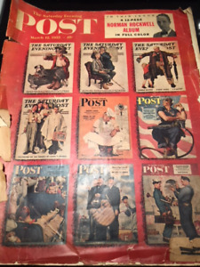 Vintage edition of The Saturday Evening Post with Rockwell Album