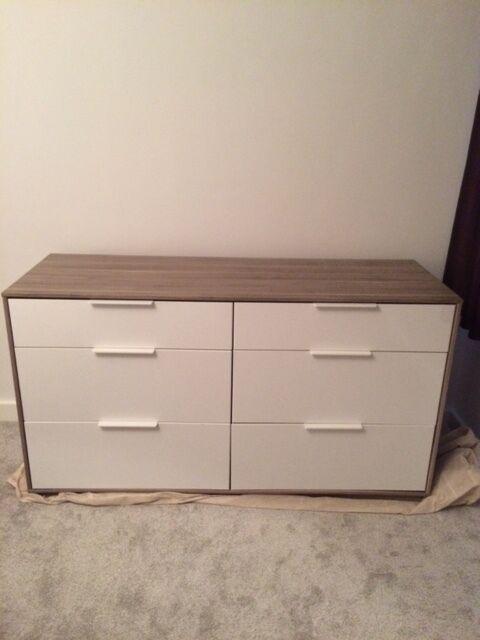 ikea askvoll 6 drawer chest dresser sideboard in wandsworth london gumtree. Black Bedroom Furniture Sets. Home Design Ideas