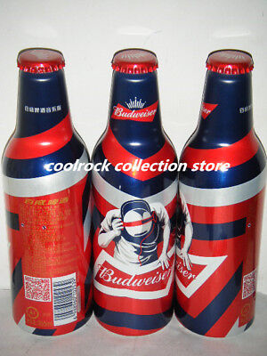 2018 China Budweiser beer DJ music aluminium bottle 355ml empty for collectible