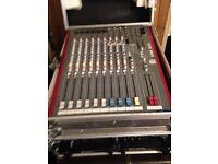 Allen & Heath Mixer ZED FX12 + Sound Prossesor + Amplifier + Kam Cordless Mics
