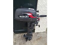 SUZUKI 4 2 STROKE 1977 OUTBOARD MOTOR. EXCELLENT CONDITION. HARDLY USED. AS NEW