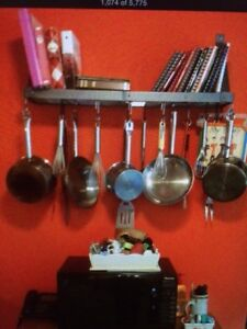 Very nice wall mount pots and pans hanger