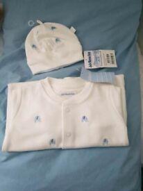 Jojo Maman Bebe Babygrow and Hat