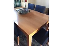 Table and 6 Chairs, reasonable condition, chairs a little faded, would dye. Buyer collects