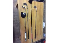 Left hand golf equipment, 3 wood, putter, wedges