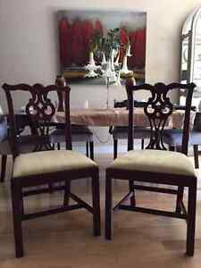 Stunning Queen Anne Mahogany Dining Room Chairs