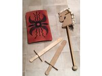 Wooden Sword, Shield and Horse