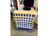 Single folding guest bed for sale, compact, slim, easy to store, value for money!