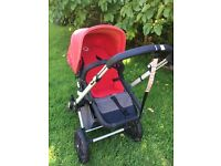 Bugaboo Cameleon (mark 1), with foot muff and raincover