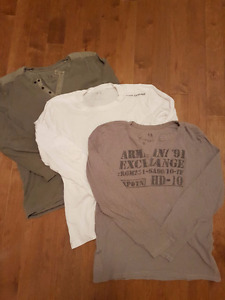 ARMANI EXCHANGE LONG-SLEEVE SHIRTS SIZE M/L