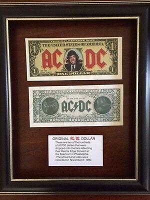 "2 AC/DC DOLLARS from 1990 Razors Edge Concert ""Money Talks"""