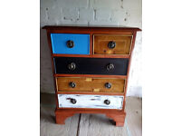 Superb Vintage Antique Mahogany Inlaid Chest of Drawers/Bedside Cabinet