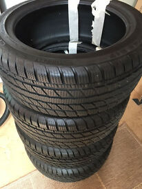 4 Winter Tyres, nearly new 235/45 R17 - suit Passat or similar