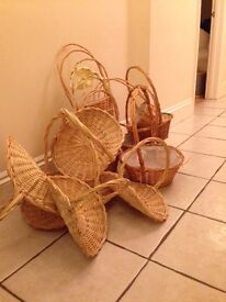Wicker Baskets for Crafting or Gifts