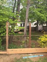 Fence and deck repair. Replacing fence posts and repair decks