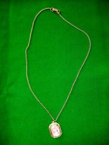 Costume Jewelry - Necklace with Pendant - 22 inches long