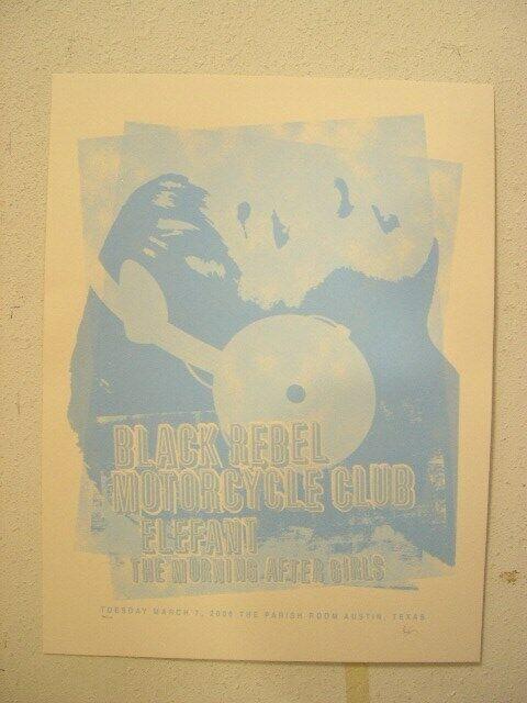Black Rebel Motorcycle Club SilkScreen Poster The