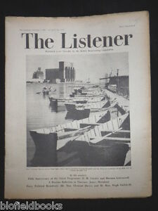 Vintage BBC Magazine 'The Listener' 4th October 1951 - E M Forster, Ulanova