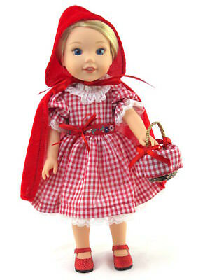 Red Riding Hood Outfit (Little Red Riding Hood Inspired Outfit Fits Wellie Wishers 14.5