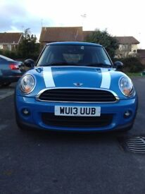 Mini One Hatchbck Aug 2013 1.6 Petrol Manual transmission Kite Blue 58710 miles