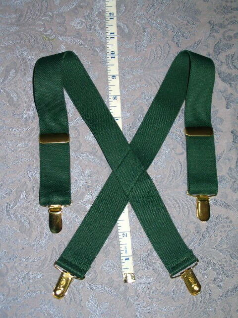 Little Boys Dress Elastic Suspenders Green adjustable fits 18M 24M 2T 3T 4T NEW