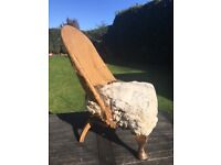 Antique Victorian nursing chair - upholstery project £25
