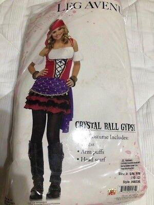 Crystal Ball Gypsy Halloween-kostüm (Junior Teen Tween Girls S M Crystal Ball Gypsy Fortune Teller HALLOWEEN COSTUME)