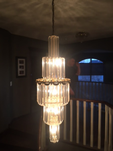 2 Vintage Chandeliers and ceiling matching light - $300 for all