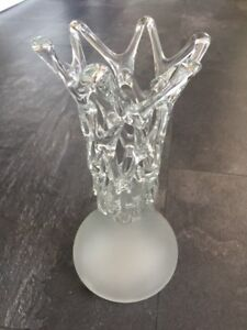 Vase- Romanian Frosted Glass