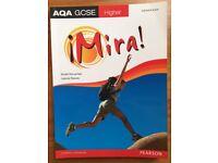 AQA GCSE HIGHER SPANISH MIRA BOOK FOR SALE !