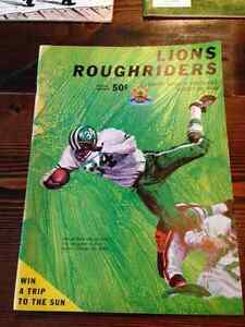 Vintage Roughriders CFL Game Programs - $100