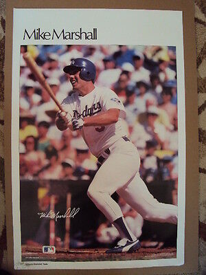 b8e34b313 1984 Original MIKE MARSHALL LA Dodgers Poster SI Sports Illustrated