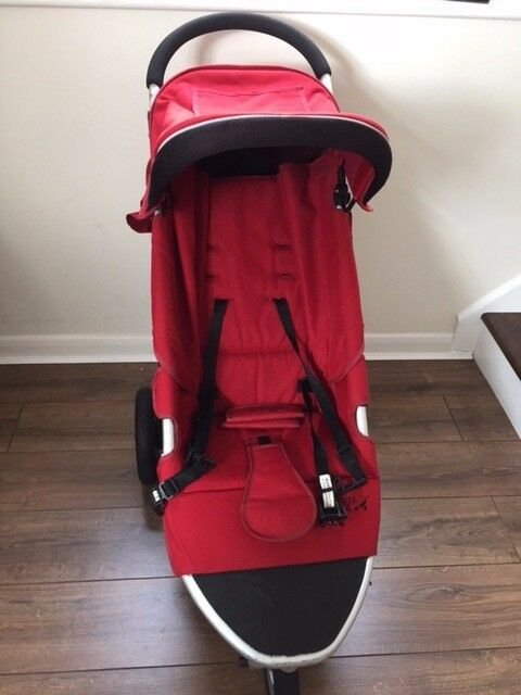 3 red wheeler pushchair Mickleover/Hinckley
