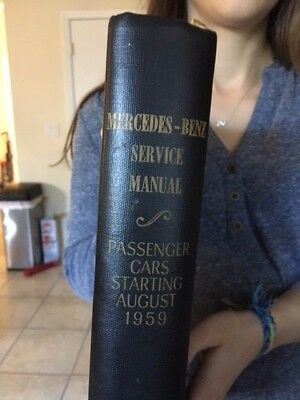 MERCEDES BENZ Service Manual Passenger Cars Starting August 1959  Complete