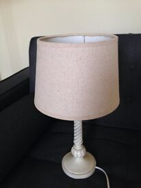 French Cream Table Lamp With Shade