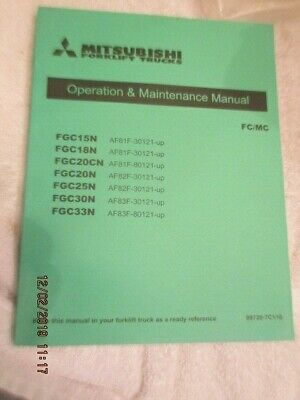 Mitsubishi Forklift Trucks Operation Maintenance Service Manual Fcmc Factory